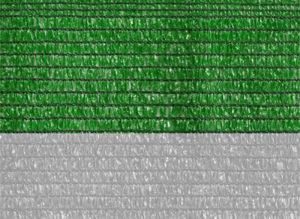 Malla sombra bicolor blanca y verde