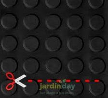 Pavimento círculo negro 3 mm por metro lineal