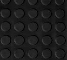 Pavimento circulo negro 3 mm por rollo