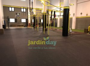 Suelo de gimnasio Sport Optimus por metro lineal (1,25 m de ancho)