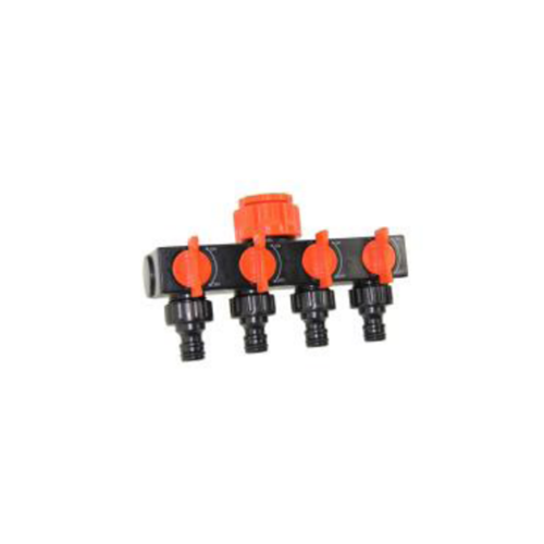 Conector grifo R.H. 3/4″ Cuatro salidas linea Soft Coated
