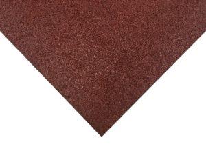 Loseta de caucho parque infantil roja 100 x 100 cm