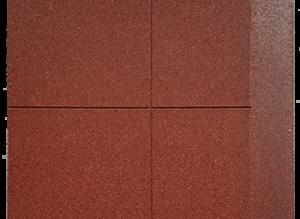 Loseta de caucho biselada un lado 100 x 100 cm