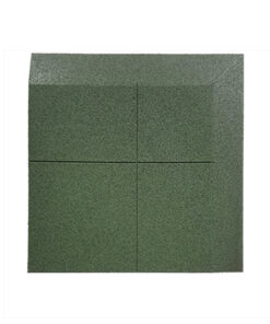 Loseta de caucho biselada una esquina (dos lados) 100 x 100 cm