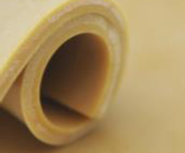 Plancha de goma virgen natural por metro lineal (1 m de ancho)