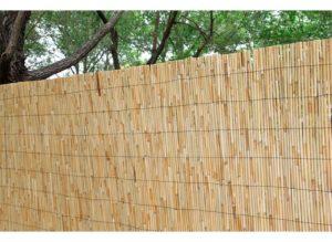 Cerramiento bambú caña completa