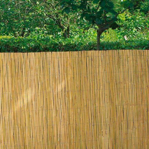 Cerramiento bambú media caña