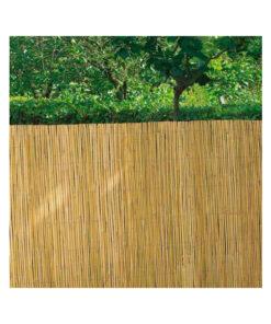 Cerramiento cañizo tipo bambú media caña