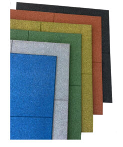 Loseta de caucho maciza de colores 100 x 100 cm