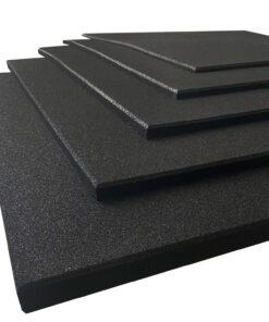 Losetas de caucho alta densidad Premium color negro 100 x 100 cm